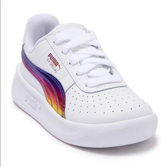 puma white shoes girls